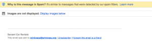 Screenshot from GMail